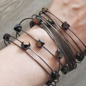 Jewelry - Multichrome bangle bracelet set